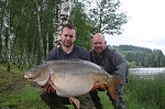 Carp Fishing in France Catch Report - Mark and Dave